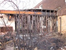 St Martin's Convent after being targetted by arsonists
