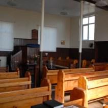Inside the Zion Baptist Chapel