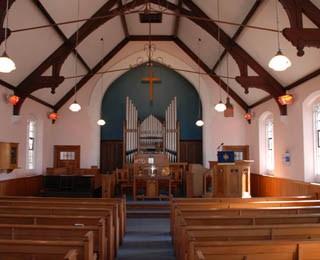 Inside the Methodist Chapel