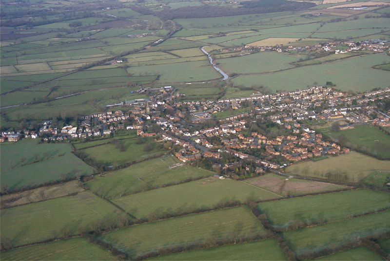 Aerial view from the south-west
