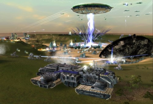 That UFO takes an hour to build and can be killed with as little as 6 turrets.