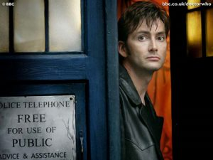 Doctor Who makes an announcement.