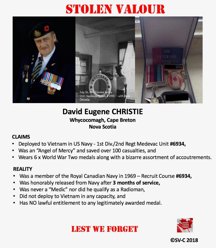 David Eugene Christie – Vietnam Angel from the Sky! – Stolen