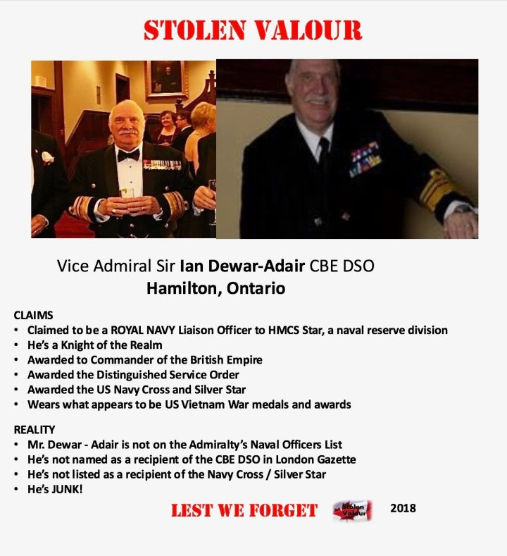 Canadian Forces (Europe) – Stolen Valour Canada