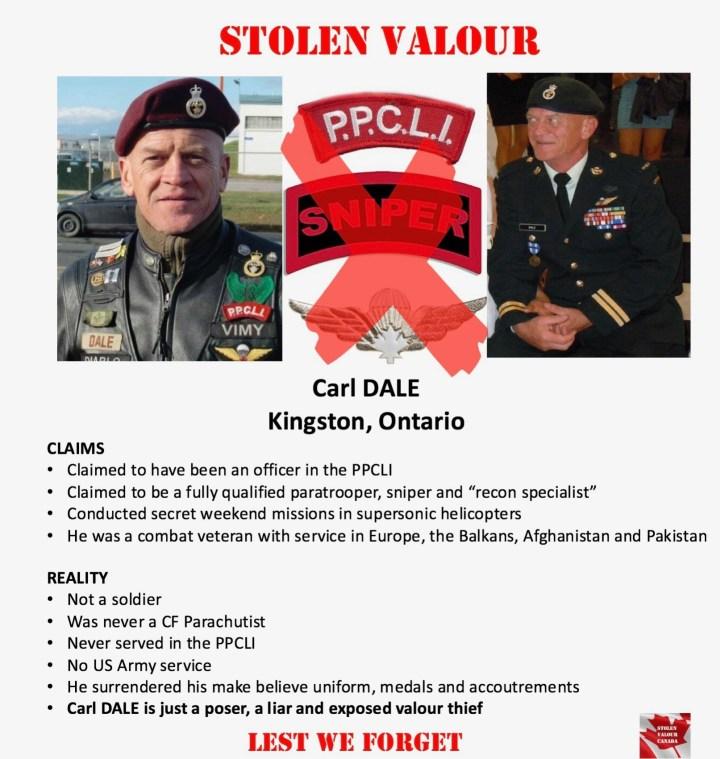Hall of Shame – Stolen Valour Canada