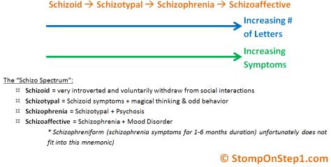The Schizophrenia Spectrum - Schizoid, Schizotypal & Schizoaffective