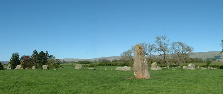 Long Meg and Her Daughters looking northeast