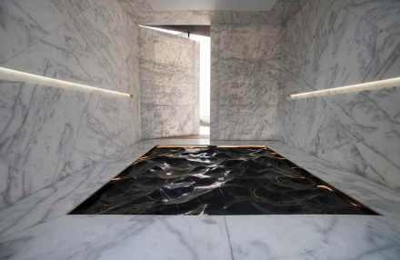 """Mathieu Lehanneur: """"Liquid marble""""."""