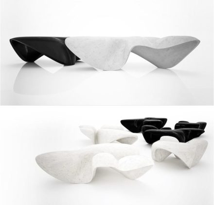 "Citco/Zaha Hadid: ""Mercuric Tables Limited Edition""."