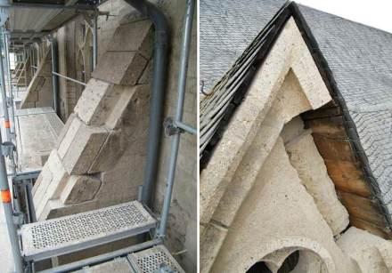 Im Mauerwerk mussten Tuff-Teile erneuert werden. Foto: Gesell Kriesten und Partner