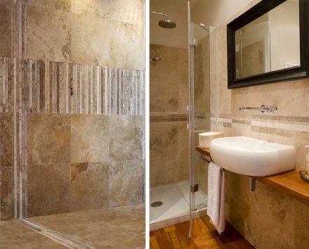 Wie bei Naturstein üblich, ist hier jedes Einzelteil und infolgedessen auch jedes Mosaik ein einmaliges Produkt.