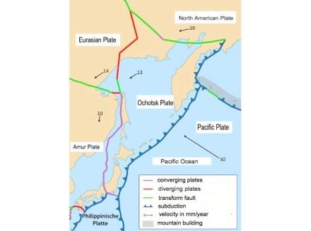 The Tectonic plates around Japan. Source: Marum, Universität Bremen