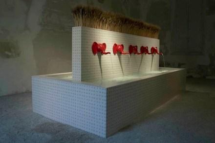 """Cibicworkshop, Lea Ceramiche, Luceplan: """"Elephountain""""."""