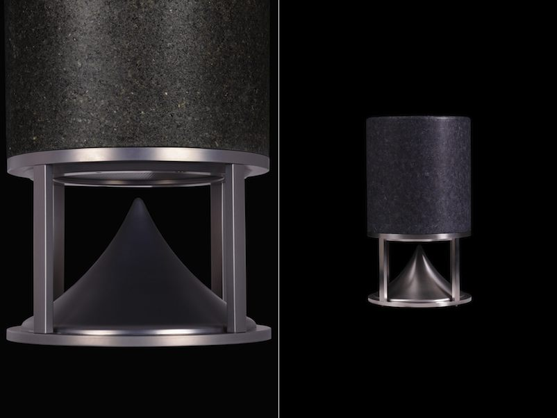 lautsprecherboxen aus marmor oder granit zur erweiterung des architekturerlebnisses stone. Black Bedroom Furniture Sets. Home Design Ideas