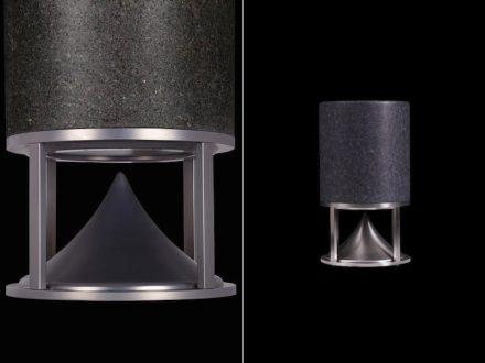 """Architettura Sonora: """"Short Cylinder"""", granite."""