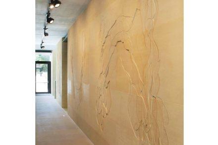En ella se encuentran grabadas formas abstractas para las cuales la artista se ha inspirado en las plantas desecadas y prensadas del herbarium universitario.