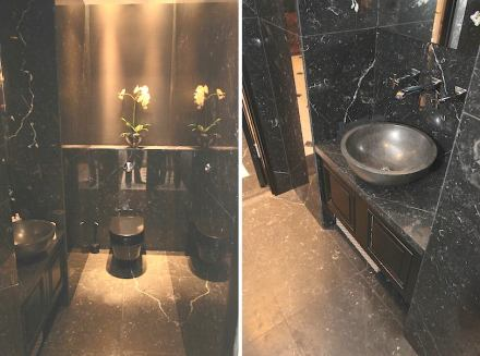 ... and one in black Nero Marquina.