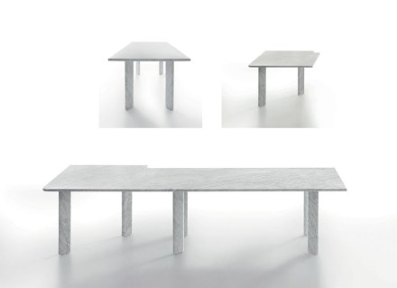 "Naoto Fukasawa: ""Agorà"" (L 405 x W 405 x H 72, single table: L 200 x W 90 x H 72, angular element: L 102,5 x W 102,5 x H 72)."