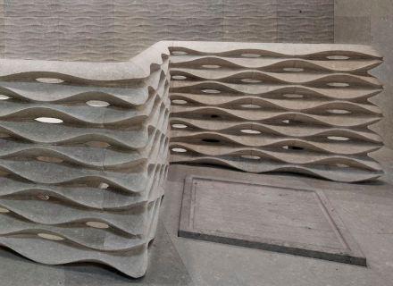 """Lithos Design: """"Onda"""", colecção """"Muri di Pietra"""". Design: Raffaello Galiotto."""