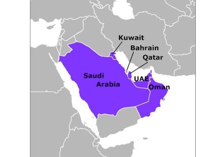 Los países del consejo del Golfo. Fuente: Wikimedia Commons