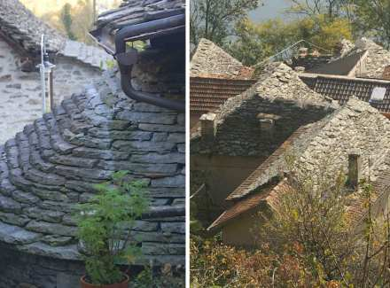 We also received a lead on roofing shingles from Cannero near the Lago Maggiore. Photos: Bertram Feld
