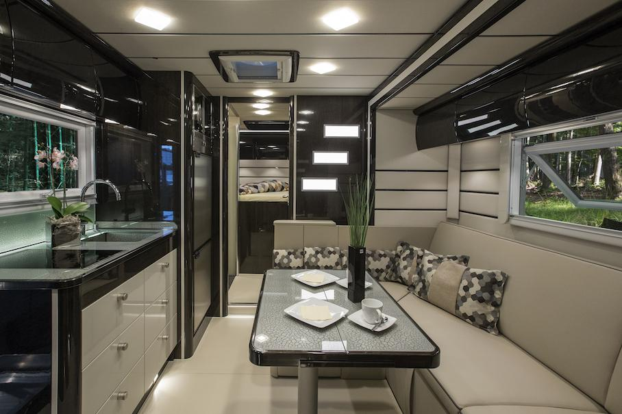 Natural stone onboard mercedes benz luxury motorhome for Mercedes benz luxury rv