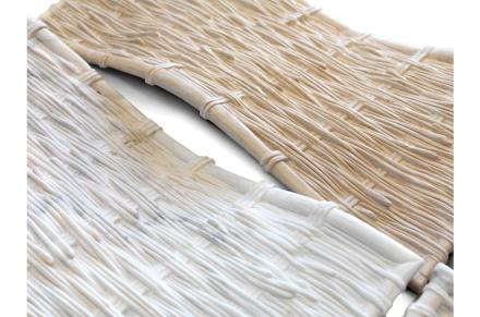 """Benedetta Tagliabue, <a href=""""http://www.decormarmi.com/""""target=""""_blank"""">Decormarmi</a>: """"Braided Marble"""". Foto: Marmomacc"""