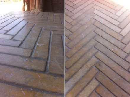 Another product idea is stone parquet flooring.