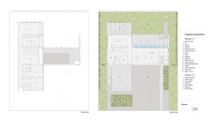 Los planos de la casa muestran la disposición de las partes de la construcción.