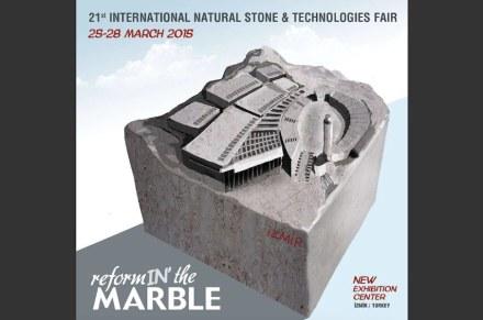 Deckblatt der neuen Broschüre der Marble in Izmir.
