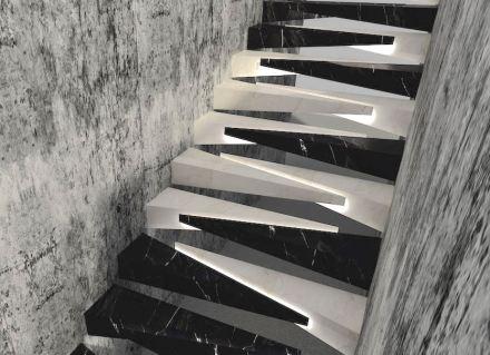 """1er Premio, Categoría Profesionales: """"Tırnak"""", Salih Saygın DEREN. Una escalera con originales escalones."""