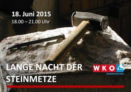 Lange Nacht der Steinmetze in Österreich am 18. Juni 2015.