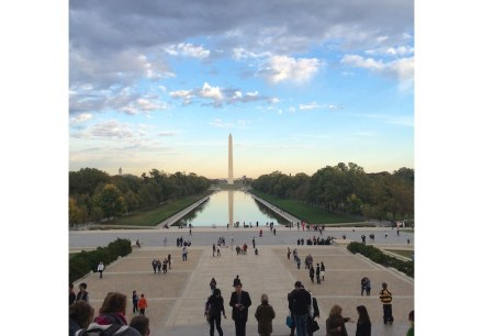 Washington Monument, the highest stone building in the world, and the reflecting pool. Photo: MIA