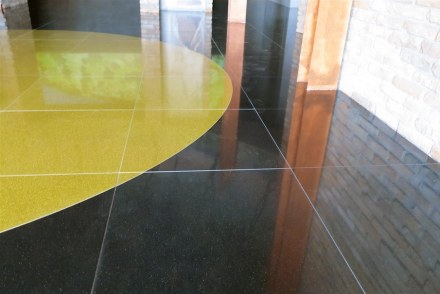 Santamargherita: The first floor has SM Quartz Nero and Gold on the ground.