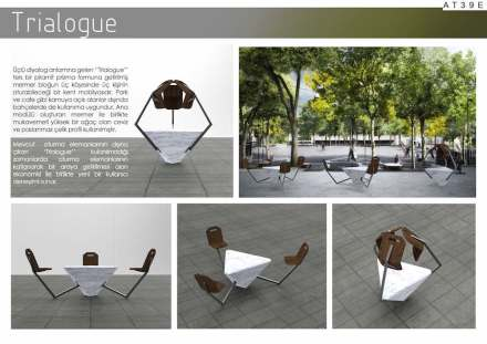 Students, Third Prize category Landscape and Furniture: Çağrı Yıldız from Mimar Sinan Fine Arts University.