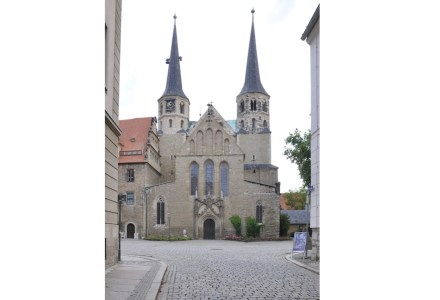 Merseburger Dom, Westfassade. Foto: Hoger / Wikimedia Commons