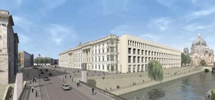 Die Ostseite mit moderner Fassadengestaltung.