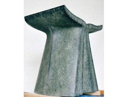 3. Platz, Steinmetzhandwerk: Maximilian Behrendt, Sitzhocker aus Diabas.
