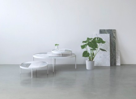 "The result was the birth of ""Patch Marble Tables"" where the tabletop is made of various types of marble arranged in a type of rigid patchwork."