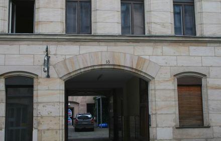 Unser Foto zeigt Sandsteinfassaden aus der Innenstadt von Fürth...