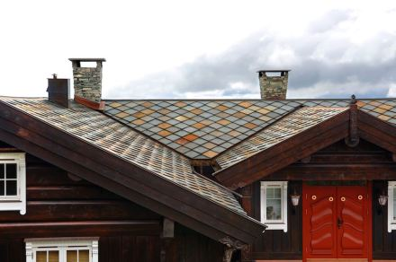 Norwegian slate chimneys.