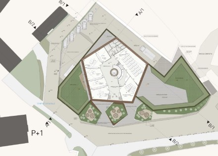 The complex itself is pentagonal in shape. Source: Grassi Pietre
