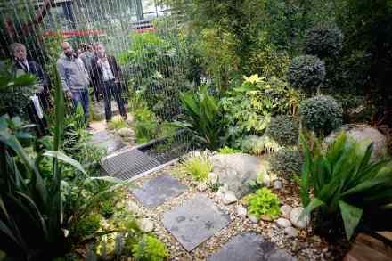 """""""Le Carré des Jardiniers"""" alla Paysalia 2015 promuove delle creazioni innovative di giardini. Foto: Paysalia"""