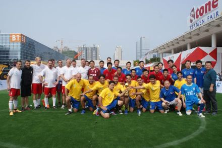 "Die Teams des Lunds Cups, gelb: ""Samba"", weiß: ""Vikings"", rot: ""Dragoons"", blau: ""Shi Shan Ban"". Photo: Bill Wang"