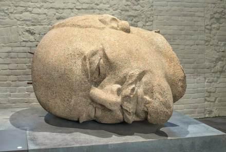 Kopf des Berliner Lenin-Denkmals aus DDR-Zeiten. Foto: Friedhelm Hoffmann, © Stadtgeschichtliches Museum Spandau