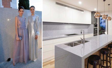 Levantina Fashion Night: granito Bianco Trevi, Naturamia Collection.