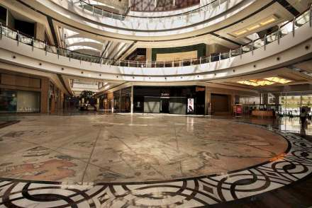La famosa mappa navale di Piri Reis come mosaico nel Panora-Shopping Center, Ankara.