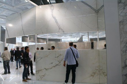 """And another observation: ceramic tiles are becoming bigger still. <a href=""""http://www.ariostea.it""""target=""""_blank"""">Ariostea</a> company."""