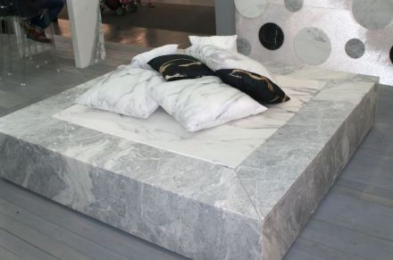 Sleeping in stone showed Geo Marmi-Carrara at Marmomacc 2016.