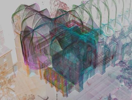 Hochauflösende 3D-Techniken können ganze Bauwerke erfassen und die Details im Zusammenhang sichtbar machen. Bild: Universität Bamberg
